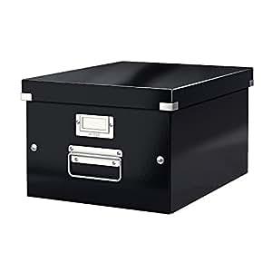 Leitz 60440095 - Caja de almacenamiento (A4), color negro