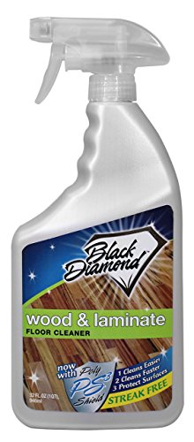 Black Diamond Wood Laminate Floor Cleaner For Hardwood Real Natural Engineered Flooring Biodegradable Safe For Cleaning All Floors 32 Oz