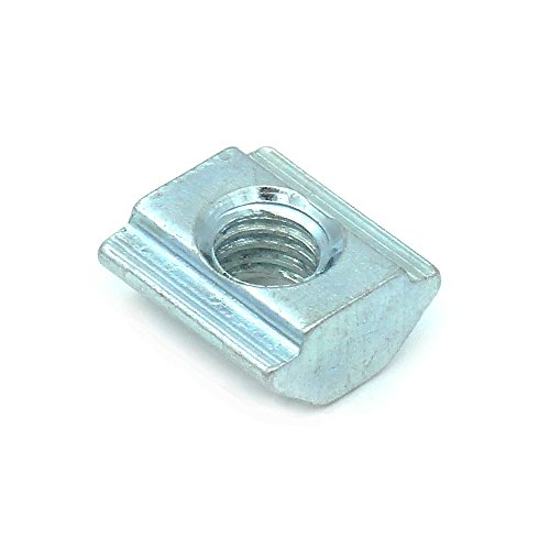 TOPINSTOCK 20 Series Metric Carbon Steel Tee Nuts M5 Sliding T Nut for 2020 Aluminum Profiles Pack of - Rails Aluminum Extruded