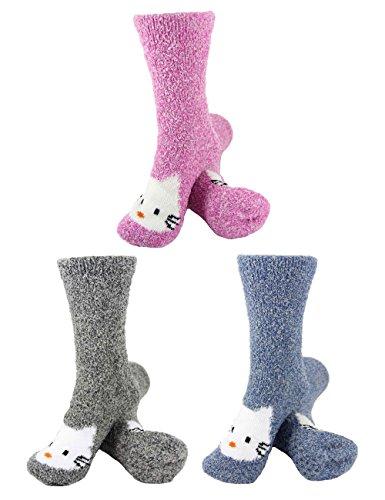 BambooMN Socks Animal Non Slip Winter product image