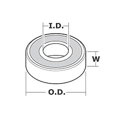 2x 1628-2RS Ball Bearing 1.625in x 0.625in x 0.5in 2RS RS QJZ Free Shipping