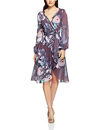 Cooper St Women's Carrie Long Sleeve Wrap Dress, Print Dark, 6