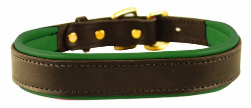 er Dog Collar, Havana/Hunter Green, Medium/1
