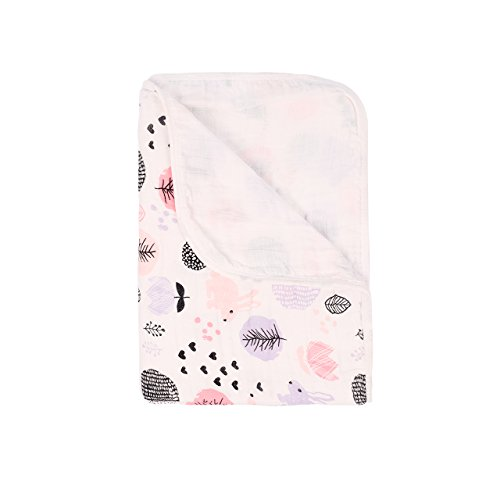 Miracle Baby Muslin Swaddle Blankets Large Cotton Receiving Blanket Nursing Cover 55''x 39''(2 Layers,Rabbit)