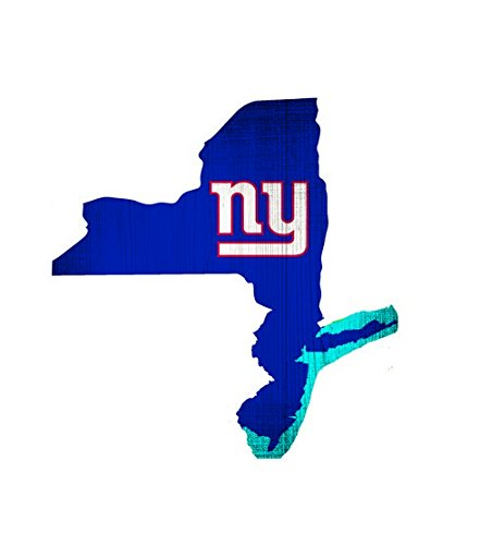 """New York Giants Team Color State Cutout Wooden Sign 12""""x12"""""""