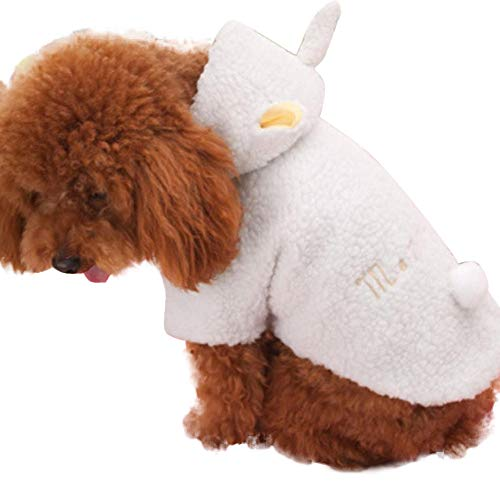 YOMXL Sheep Shape Winter Warm Dog Coat Cute Puppy White Padded Coat Pet Clothes Puppy Doggie Costumes