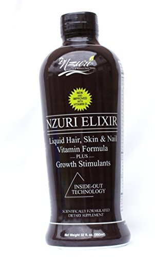 Nzuri Elixir - Liquid Hair Vitamin Plus Growth Stimulants - 32 Ounces by Haircare from (Elixir Liquid Vitamins)
