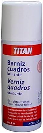 BARNIZ CUADROS SPRAY TITAN 400ML BRILLO (OLEO/ACRILICO)