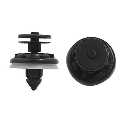 eDealMax 50Pcs Negro Splash plástico Defensor Interior Sujetador tipo de inserción 8 mm Clip Para el