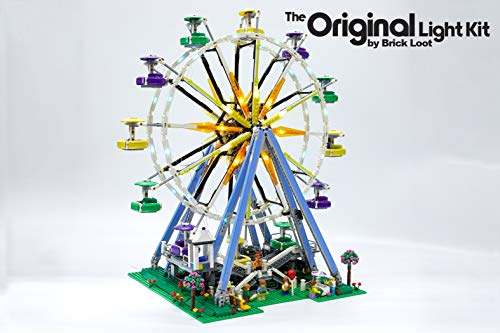 (Brick Loot Lighting Kit for Your Lego Ferris Wheel Lighting Set 10247)