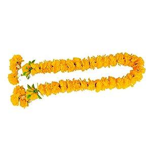 wonderflowers Artificial Yellow Marigold Garland 65 cm. for Make A Wish 64
