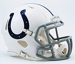 INDIANAPOLIS COLTS NFL Cupcake / Cake Topper Mini Football Helmet