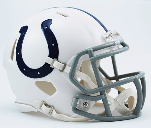 - INDIANAPOLIS COLTS NFL Cupcake / Cake Topper Mini Football Helmet