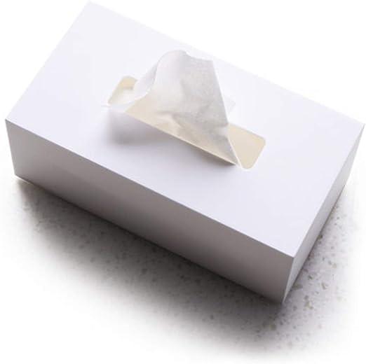 caja de pañuelos Caja de Almacenamiento de Toallas de Papel Blanco ...