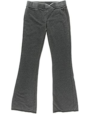 Guess Womens Heathered Flat Front Yoga Pants