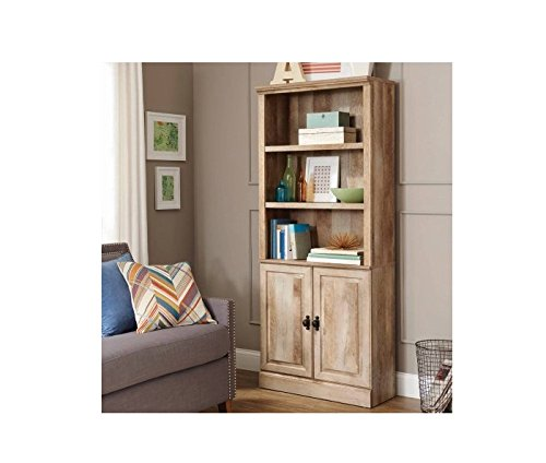 Crossmill Collection Weathered Bookcase 3 Shelves With Bottom Storage  Bookshelf
