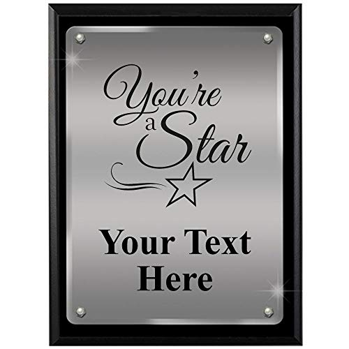 Star Acrylic Plaque - Crown Awards Corporate Above and Beyond Plaques - 8 x 10 You're A Star Ascendant Floating Acrylic Recognition Trophy Plaque Award Prime