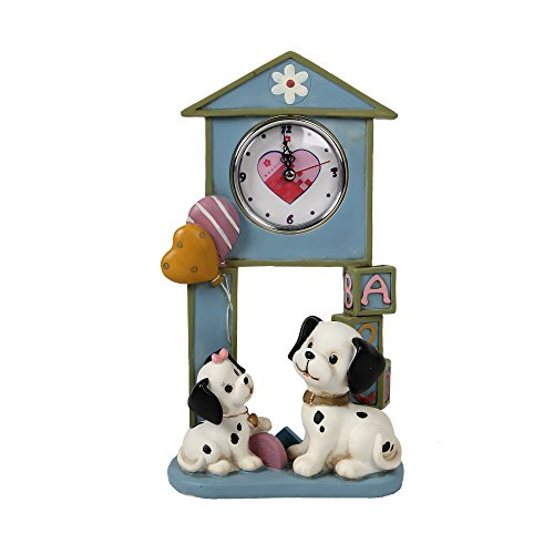 CTG Dalmatian Clock with Pendulum 12 inches Blue ()