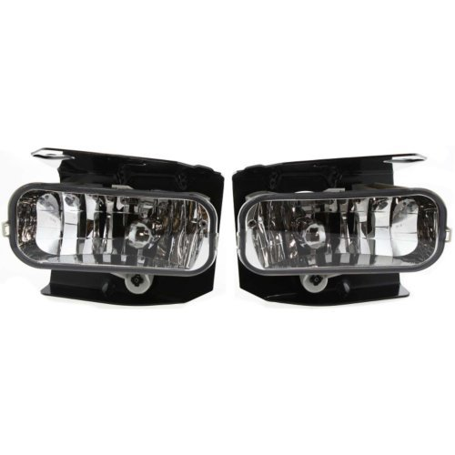 - New Front Fog Lamp Assembly Crystal Clear For 1999-2004 Ford F-Series Chrome Set of 2 FO2591105