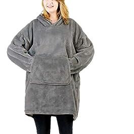 Huggles Hoodie, Oversized Hoodie Sweatshirt Blanket, Super Soft Warm Comfortable Blanket Hoodie, One Size Fits All