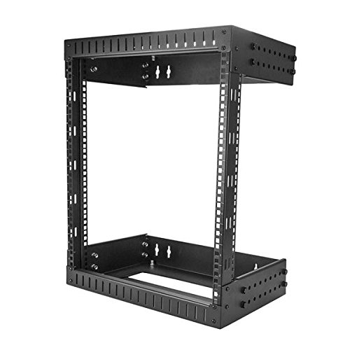(StarTech.com Wall Mount Server Rack - 12U Rack - 12-20in Adjustable Depth - Open Frame - Network Rack - Computer Rack - Equipment Rack)