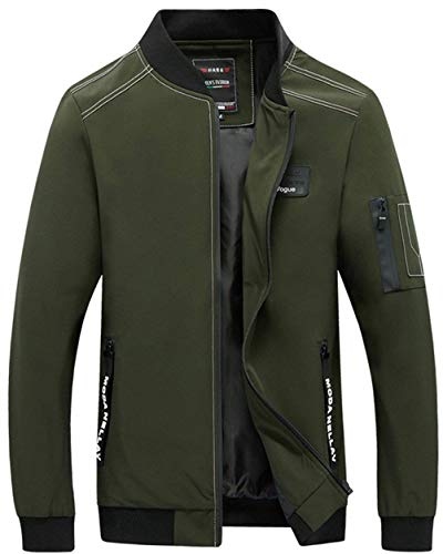 Slim Moda Con Sport Varsity Giacche Grün Cappuccio Lunga Abbigliamento Uomo Top Da Outdoor Fit Cerniera Manica Cappotto OIwTEq8