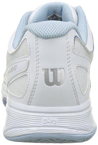 Wilson Damen Rush_Evo Tennisschuhe Mehrfarbig (White/White/Stonewash)