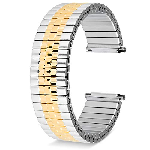 (Men's Two Tone Metal Expansion 17-21mm Replacement Watchband )