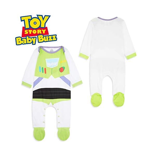 Disney Toy Story Tutine Neonato Buzz Lightyear, Pigiama Intero Bambino, Tutina per Neonati in Puro Cotone, Abbigliamento… 4
