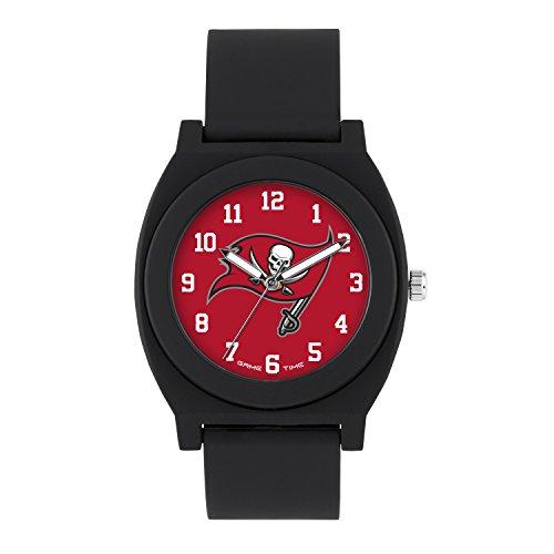 (NFL Tampa Bay Buccaneers Mens Fan Series Wrist Watch, Black, One Size)