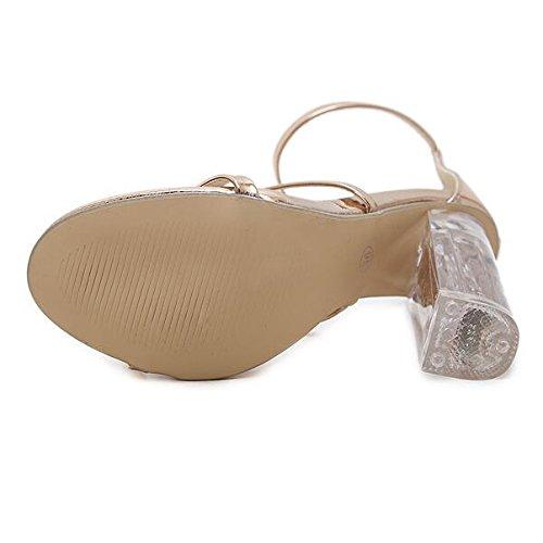Sangle Sandales Cristal De Sandales Hope Parti Orteil Talons Bal Ouvert Mariage À Sandales Femmes Clair De Dames Chaussures Gold Cheville vWWnxBTg