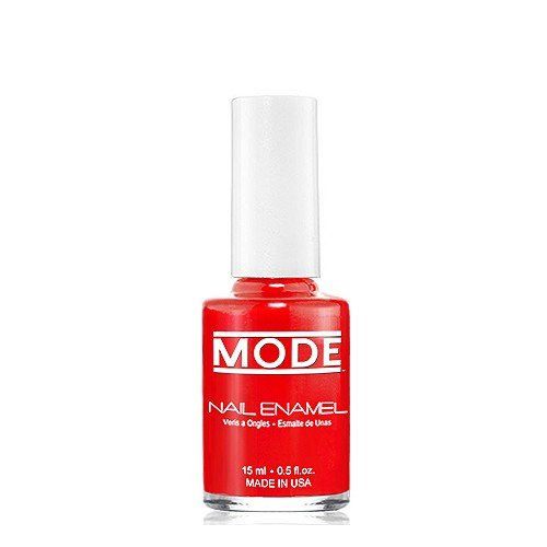 MODE Nail Enamel (Bright Bold Fire Red - Shade #146) Long Wear, High Gloss, Chip Resistant, Cruelty-Free and Vegan, Salon Nail Polish Formula MADE IN THE BEAUTIFUL USA .50 fl oz