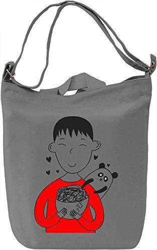 Love Noodles Borsa Giornaliera Canvas Canvas Day Bag| 100% Premium Cotton Canvas| DTG Printing|