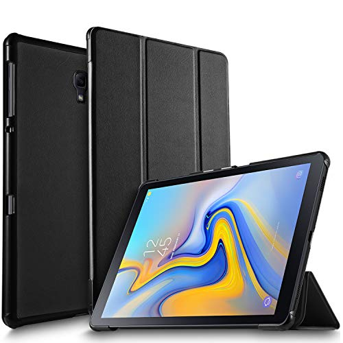 IVSO Case for Samsung Galaxy Tab A 10.5, Slim Smart Case PC Back Cover for Samsung Galaxy Tab A 10.5 2018 Release SM-T590 (Wi-Fi)& SM-T595 (LTE) Tablet(Black)