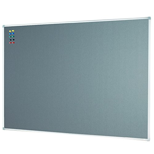 - Lockways Felt Bulletin Board - Message Notice Board 48 x 36, Slimline Silver Aluminium Frame U12267762709 (4 X 3, Grey)