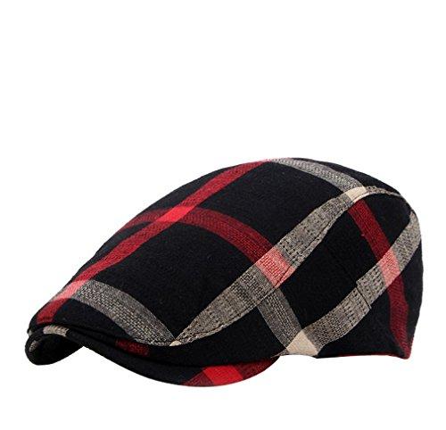 Taille Chapeau 3 Réglable Visière Homme Béret Casquette Adulte Couleurs Pour Femme Ou Aux Unisexe Unique Noir Plate Rayures Acvip YxwqaRgfB