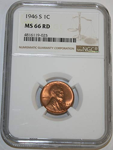 1946 S Lincoln Cent Cent MS66 NGC RD