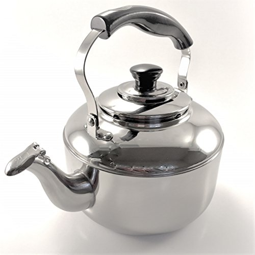 Tea Kettle Stainless Steel Whistling Teapot Teakettle for Stovetop-Rust Resistant Mirror Finish-3qt (Tea Harmonic Kettle)