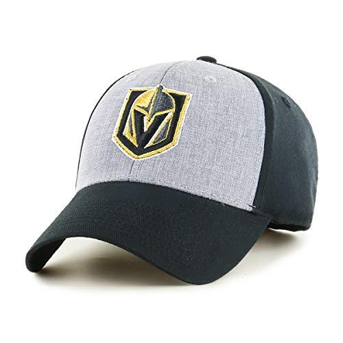 OTS NHL Vegas Golden Knights Men's Essential All-Star Adjustable Hat, Black, One Size