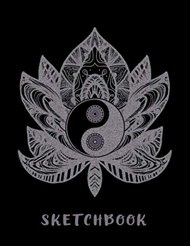 Sketchbook: Drawing and Sketching in Ink | Perfect Gift for Tattoo Artists | Lotus Flower and Yin Yang Design Cover