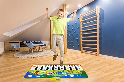 Scalechrome Gigantic Size Floor Piano Mat for Kids Aged 3 Years and Above Having Volume Control, 16 Musical Keys and 8 Animal Sounds