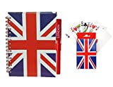 UNION JACK PLAYING CARDS + LINED NOTE BOOK & PEN