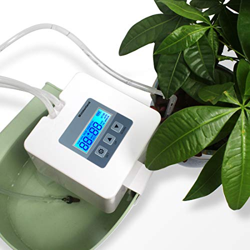 DIY Micro Automatic Drip Irrigation Kit,Houseplants Self Watering System with 30-Day Digital Programmable Water Timer 5V USB Power Operation for Indoor Potted Plants Vacation Plant Watering [Gen 4] (House Plant Watering System)