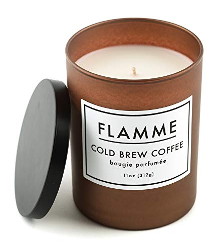 Flamme Candle Company Cold Brew Coffee Scented Jar Candle :: 11 Oz, Soy Wax