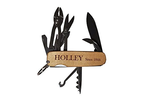 HOLLEY Pocket Knife Multi-tool MOD13B with Quarter Sawn Maple Wood Scales (the sides) by Holley Knives
