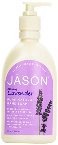 Jason Natural Cosmetics  Lavender Liquid Satin Soap, 16 oz