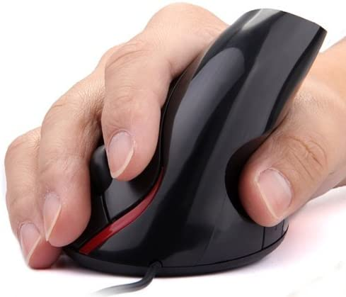 Value-5-Star Sale USB Mouse Vertical Ergonomic Vertical Mouse 1000 DPI LED for PC Computer Black