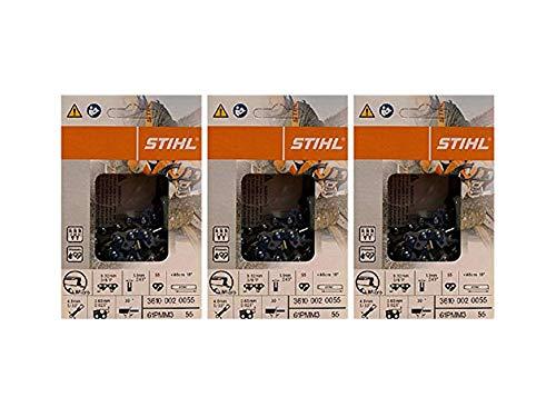 3 pk) 16' Stihl Chainsaw Picco Micro Oilomatic Saw Chain 61PMM355 3/8p .043 55dl