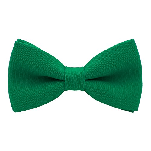 Classic Pre-Tied Bow Tie Formal Solid Tuxedo, by Bow Tie House (Medium, Green Grass) ()