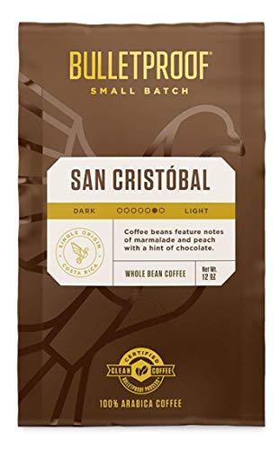 San Cristobal Coffee - Bulletproof Limited Small-Batch Release, Clean, Rainforest Alliance Certified, Single-Origin from Las Brisas de San Cristóbal, Costa Rica. (Whole Bean)